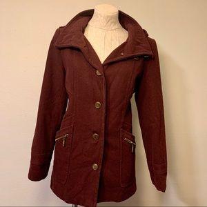 New York & Co burgundy coat